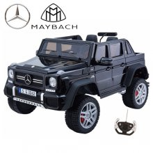 Kids Ride On 24v Mercedes Maybach G650 4WD 2 Seat Black Jeep
