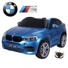 Official Blue X6M Kids BMW Two Seater 12v Electric Jeep