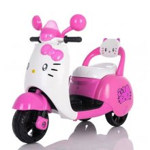 Kids 6v Pink Hello Kitty Ride On Electric Moped