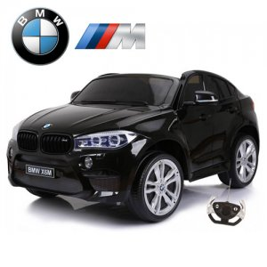 Licensed Black M Sport X6 Kids BMW Two Seater 12v Electric Jeep