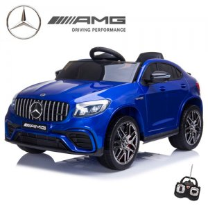 Licensed New Mercedes GLC63S Metallic Blue 12v SUV Ride On
