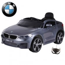 Official BMW 6 GT 12v Gunmetal Grey Kids Electric Ride On Coupe