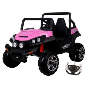 24v Pink 2 Seat 4WD Girls Large Off Road Kids Ride On Jeep
