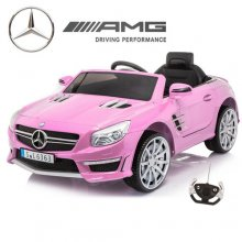 Kids Official Pink SL63 Mercedes Ride On Sports Car