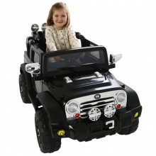Twin 6v Jeep Wrangler Style Kids Truck with Doors