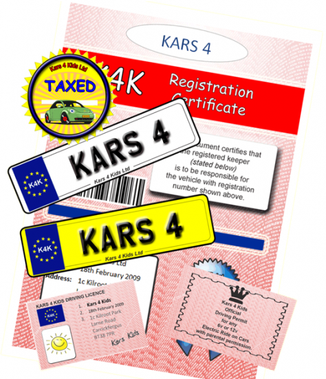 Childrens Complete Personalised Drivers License Pack - Click Image to Close
