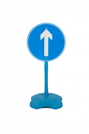 Stand-up One Way Only Kids Traffic Road Sign