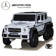 24v Official White 6x6 Mercedes Kids Ride On SUV with Remote