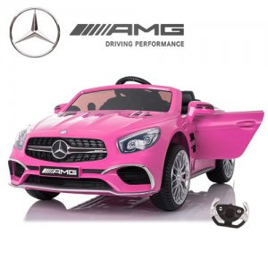 12v Mercedes Benz AMG SL65 Pink Kids Electric Car
