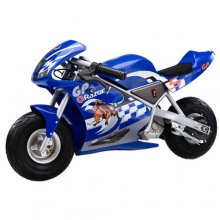 Kids Electric Ride On Blue Sport Super Bike