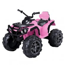 Kids Pink Chunky Wheel 12v ATV Ride On Quad Bike