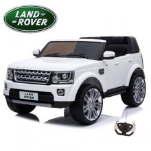 Licensed Two Seat Kids White 12v Land Rover Discovery Jeep