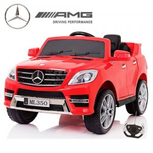 Kids Red Licensed AMG ML350 Compact Mercedes 12v Ride On Jeep