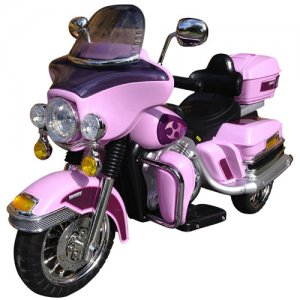 Girls Pink 12v Electric Touring Motorbike Ride On