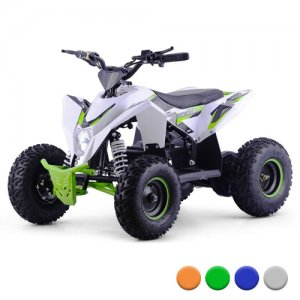 2018 Ice White Premium Off Road 36v Kids Suspension Quad