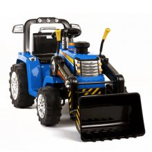 Kids 12v Battery Ride On Tractor With Loader Bucket