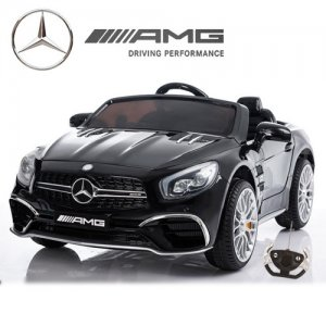 Black Mercedes Benz SL65 Kids 12v Roadster Car