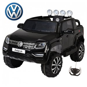 12v VW Amarok EVA Tyre Leather Seat Kids Black Jeep