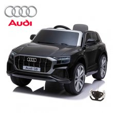 12V Official Black Audi Q8 Kids Electric Ride On SUV with remote
