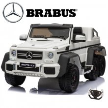 2 Seater Licensed 6 Wheel Mercedes Brabus White Kids Jeep