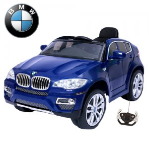 Blue Licensed BMW X6 Ride On Electric Jeep with Remote