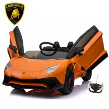Official 12v Orange Lamborghini Aventador SV Kids Supercar