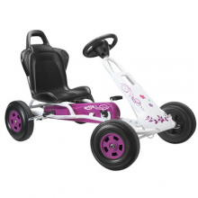 White & Purple Girls Pedal T1 Go Kart