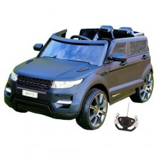 Matte Black Range Style Large 12v Kids Electric Jeep