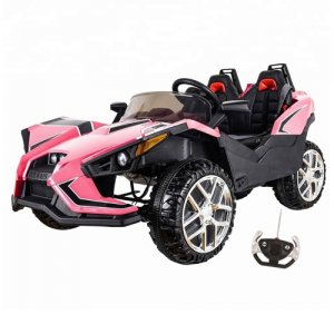 Kids Pink 2 Seater Concept Sports Ride On 12v Car