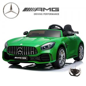 Large 2 Seat Kids Licensed Green 4WD Mercedes GT Ride On