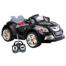 6v Ride On Black Muscle Roadster Car with Parental Controls