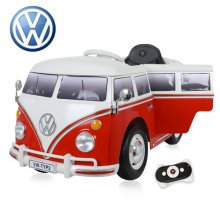 Kids Red 12v Volkswagen VW T2 Camper Van Ride On