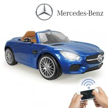 Official Injusa Blue Mercedes GT 6v Electric Car with App