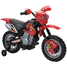 6 Volt Battery Powered Childs Dirt Bike Motorbike + Stabilizers