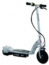 Silver E100 Kids Electric Scooter