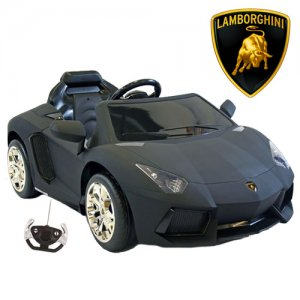 Licensed 12v Matte Black Lamborghini Aventador Super Car