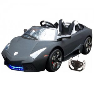 12v Large Special Edition Matte Black Lambo Kids Sports Car