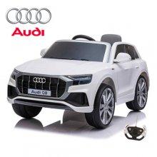 12V Official White Audi Q8 Kids Battery Ride On Jeep with Remote