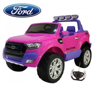 Kids Licensed 24v Two Seat Pink Ford Ranger Ride On Jeep