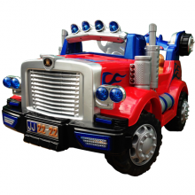 Optimus Prime Transformers Style Kids 12v Fire Truck