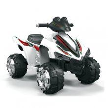 Two Speed 12v Kids Ice White Quad Bike