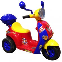 Mini Mod Style Kids 6v Ride On Rocket Moped