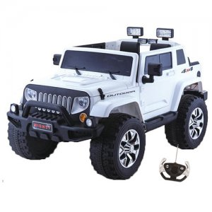 White Modern Jeep Style Kids 4x4 24v Electric SUV