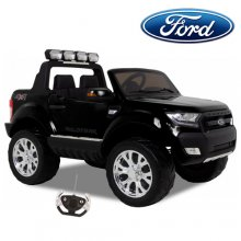 Black 12v 2019 Ford Ranger Kids Jeep with Mp4 & EVA Tyres