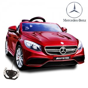 Special Edition Metallic Red Official Mercedes S63 Kids 12v Car