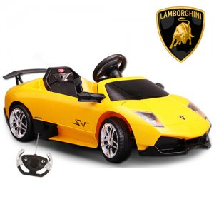 Official 12v Yellow Lamborghini Murcielago SV Ride On Car