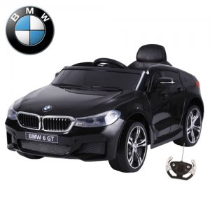 Official BMW 6 Series GT 12v Kids Black Electric Ride On Car