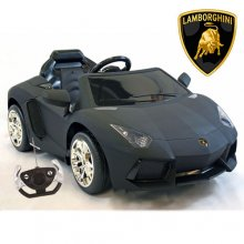 Licensed 12v Matte Black Lamborghini Aventador Car