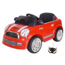 Kids 12v Micro Red Mini Cooper Style Ride On Car with Remote