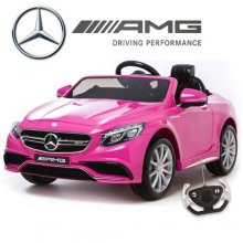 Licensed Pink Mercedes S63 12v Ride On Car